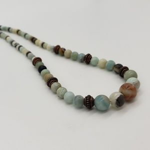 Amzonite and Copper Necklace